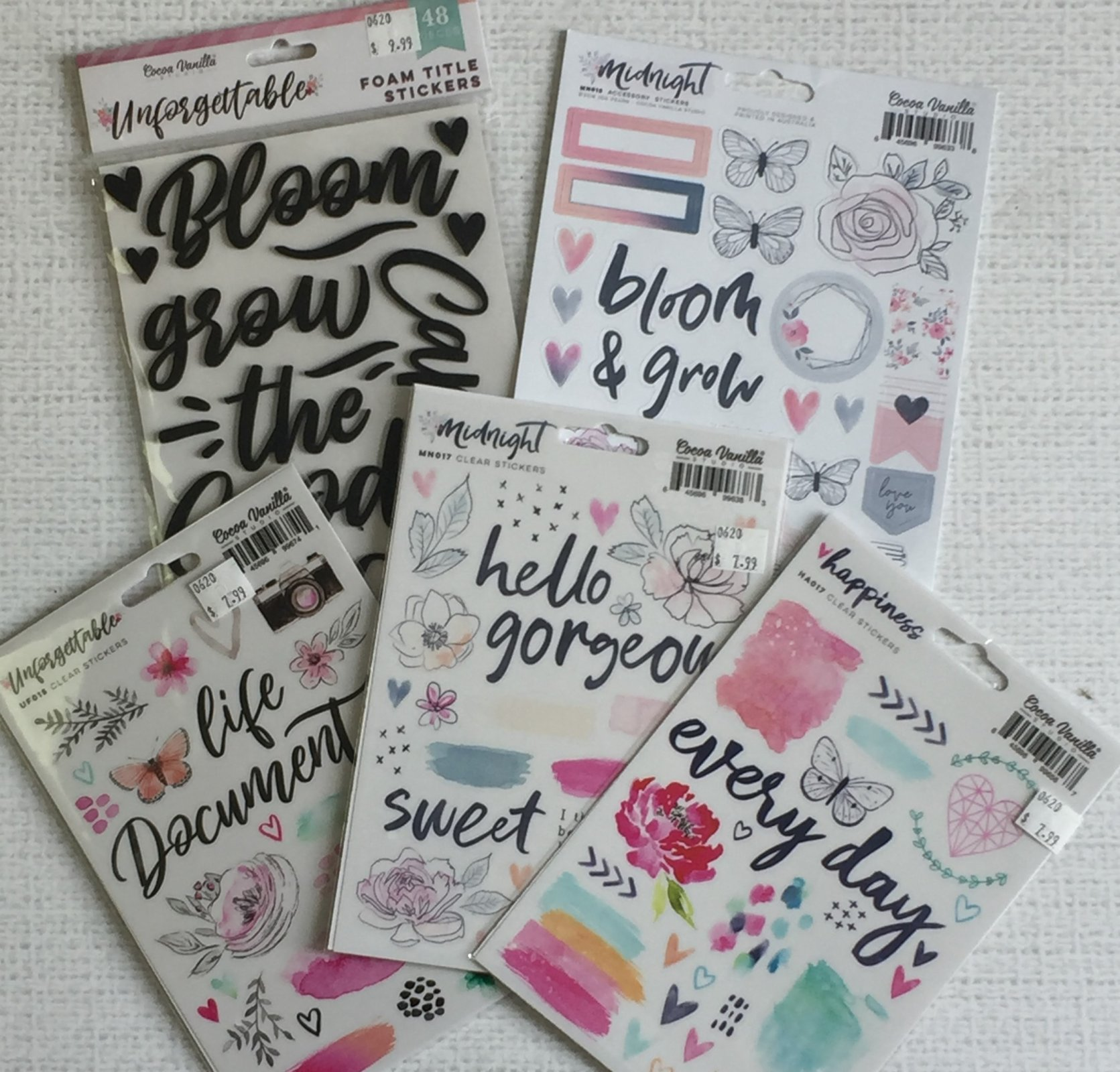 ^Cocoa Vanilla Sticker Bundle