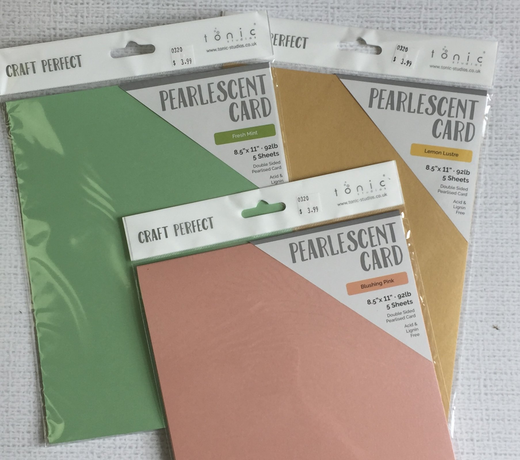 ^Pearlescent Card Bundle 1 (Craft Perfect)