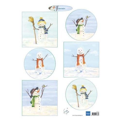 Marianne Design A4 Cutting Sheet - Tiny Snowman