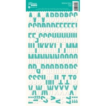 Jillibean Soup - Teal Grid Alphabean Stickers
