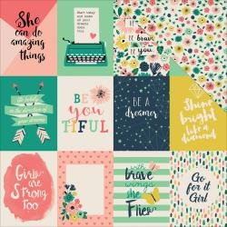 Echo Park Just Be You - 3x4 Journaling Cards