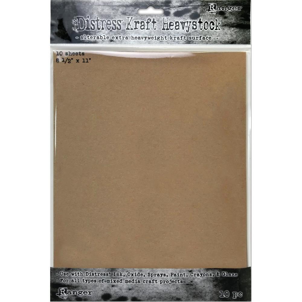 Tim Holtz - Distress Kraft Heavystock, 8-1/2 x 11,  10 Sheets/Pack