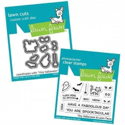 Lawn Fawn Tiny Halloween Stamp and Die Bundle