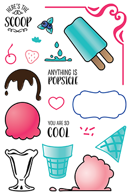 LDRS - Clear Stamps - Ice Cream Party