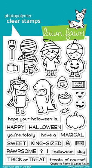 Lawn Fawn - Clear Stamp - Costume Party