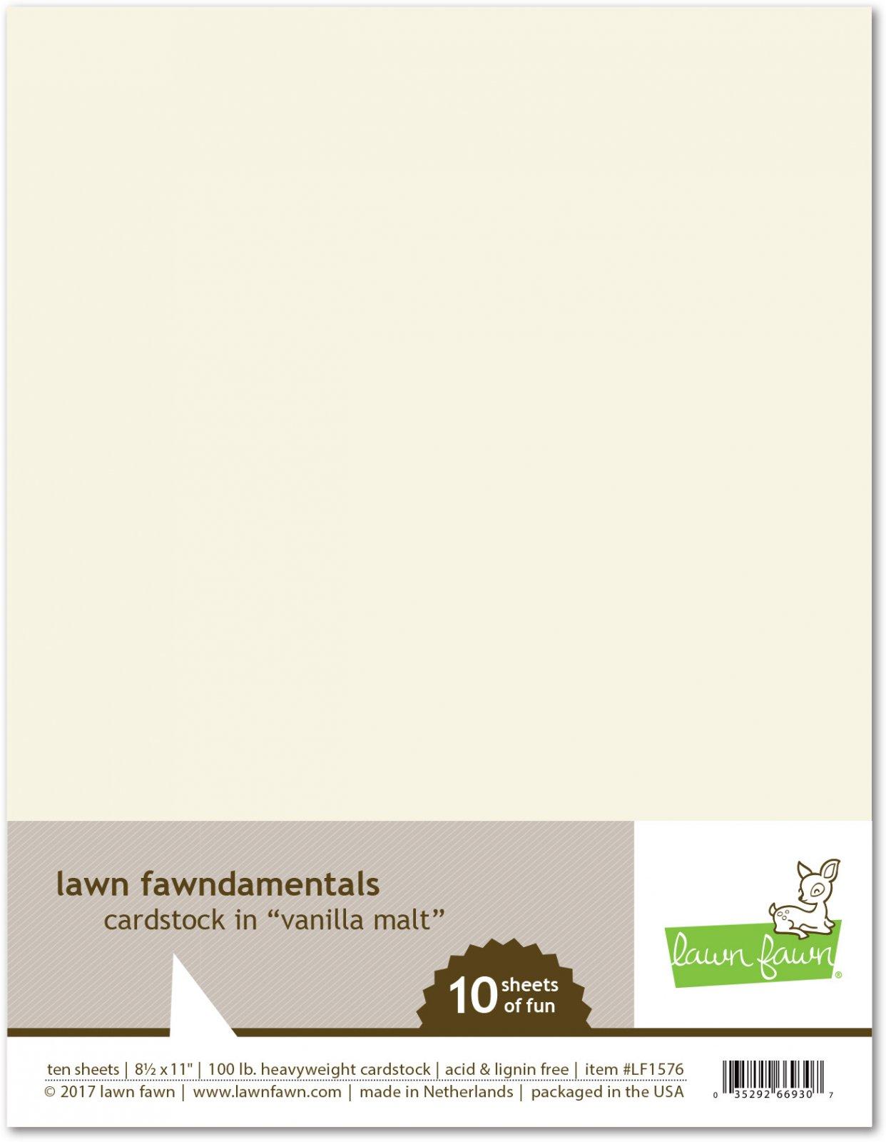 Lawn Fawn - Cardstock - Vanilla Malt 10/Pack