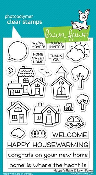 Lawn Fawn - Clear Stamp - Happy Village