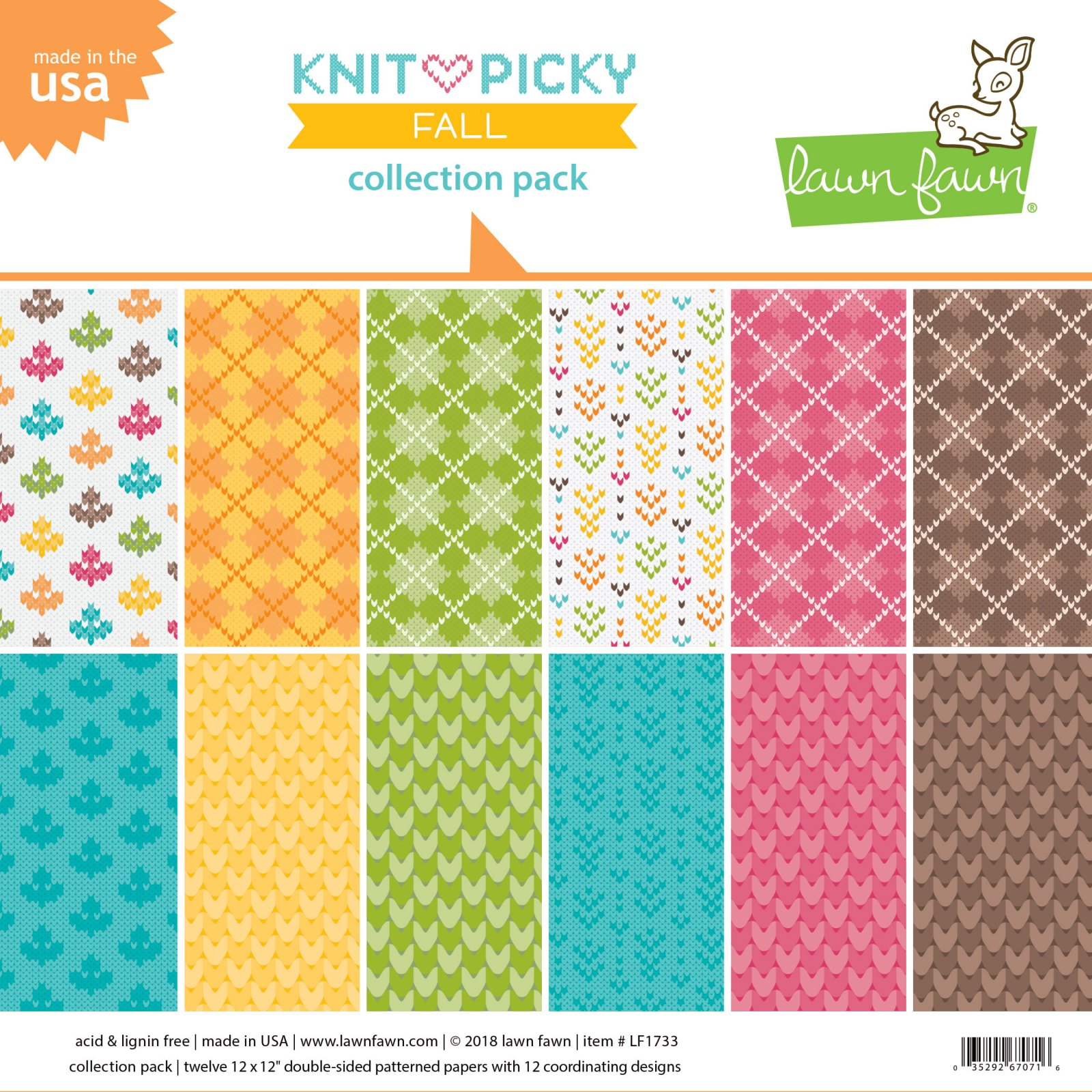 Lawn Fawn - Knit Picky Fall Collection - 12x12 Collection Pack