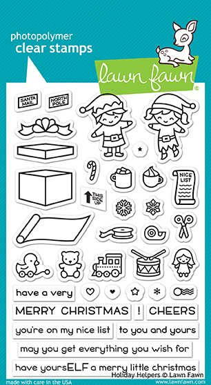 Lawn Fawn - Clear Stamp - Holiday Helpers