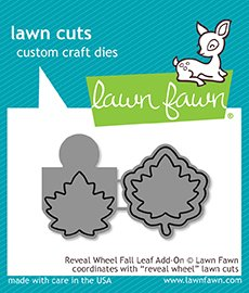 Lawn Fawn - Dies - Reveal Wheel Fall Leaf Add-On