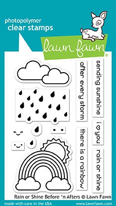 Lawn Fawn - Rain/Shine Before 'n After Stamp and Die Combo
