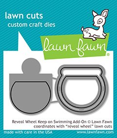 Lawn Fawn Lawn Cuts - Reveal Wheel Keep on Swimming Add-On Dies