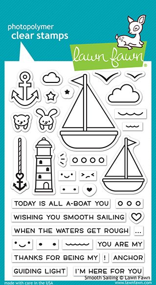 Lawn Fawn - Clear Stamp -  Smooth Sailing