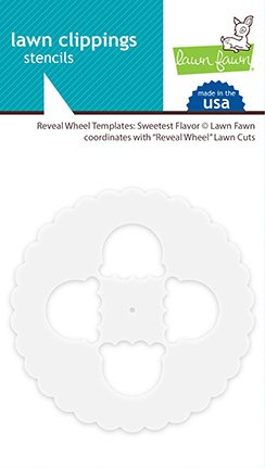 ^Lawn Fawn Lawn Clippings - Reveal Wheel Template:  Sweetest Flavour Stencil
