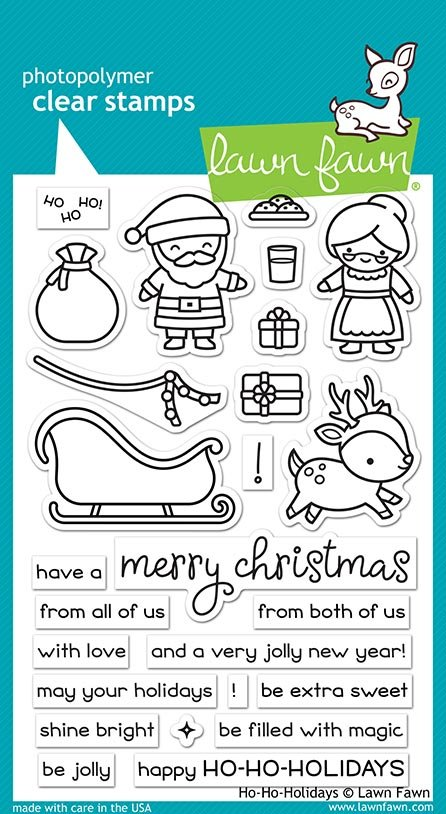 Lawn Fawn - Clear Stamp -  Ho-Ho-Holidays
