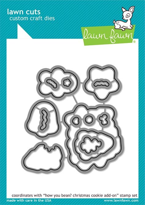 Lawn Fawn Lawn Cuts - How You Bean? Christmas Cookie Add-On Coordinating Dies