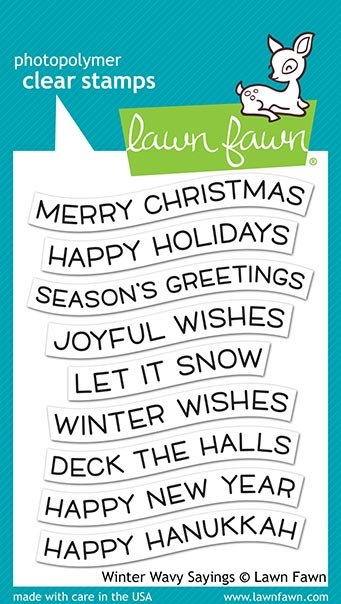 Lawn Fawn - Clear Stamp - Winter Wavy Sayings