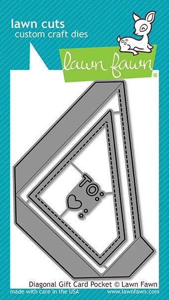 Lawn Fawn Lawn Cuts - Diagonal Gift Card Pocket Dies