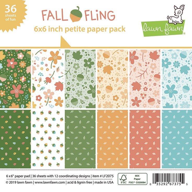Lawn Fawn - Fall Fling - 6x6 Petite Paper Pad