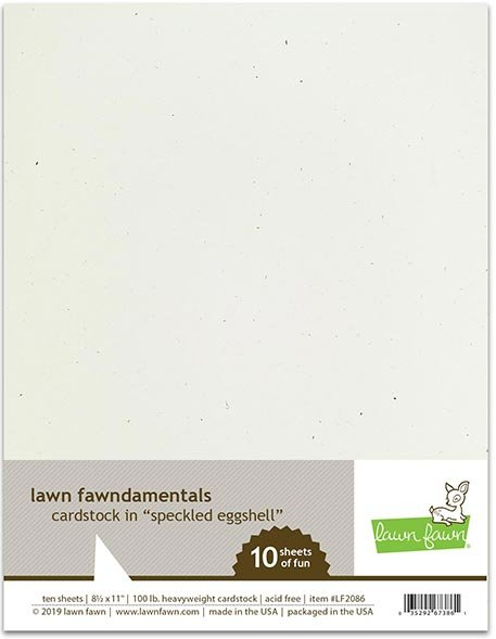 Lawn Fawn - Cardstock - Speckled Eggshell, 8.5 x 11, 10/Pack