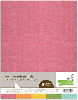 Lawn Fawn - Shimmer Cardstock - Tropical, 8.5 x 11