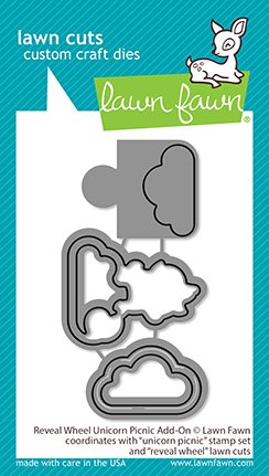 Lawn Fawn Lawn Cuts - Reveal Wheel Unicorn Picnic Add-On Dies