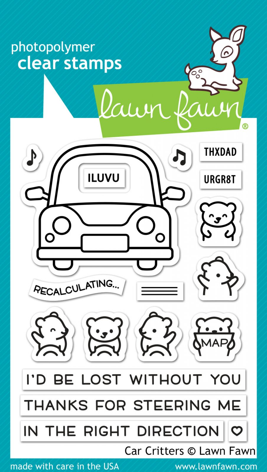 Lawn Fawn Stamps - Car Critters