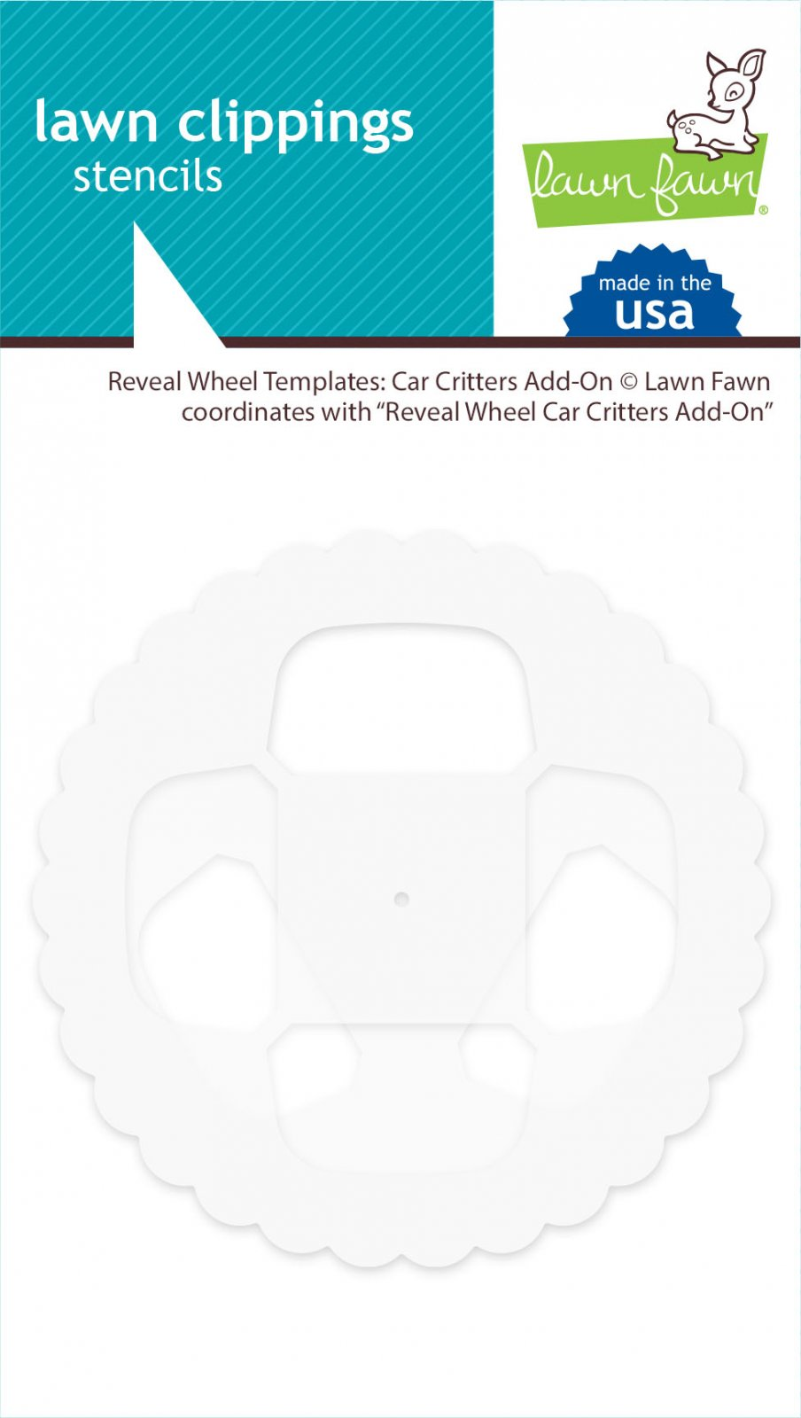 Lawn Fawn Reveal Wheel Template - Car Critters Add-On