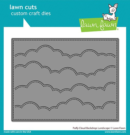 Lawn Fawn Lawn Cuts - Puffy Cloud Backdrop: Landscape Die