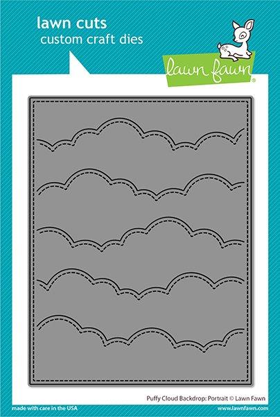 Lawn Fawn Lawn Cuts - Puffy Cloud Backdrop: Portrait Die