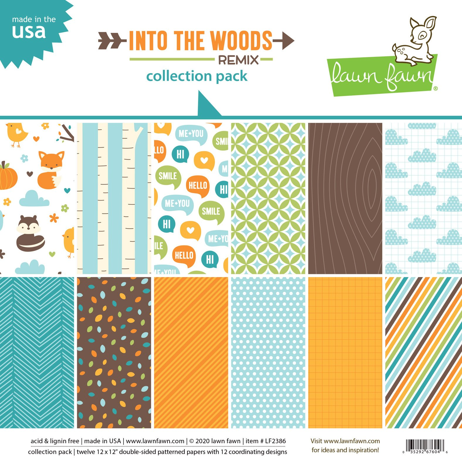 Lawn Fawn Into The Woods Remix - 12x12 Collection Pack