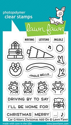 Lawn Fawn Stamps - Car Critters Christmas Add-On