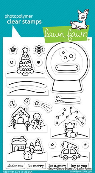 Lawn Fawn Stamps - Snow Globe Scenes