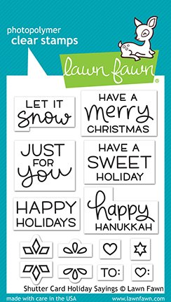 Lawn Fawn Stamps - Shutter Card Holiday Sayings