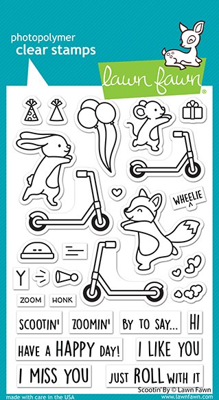 Lawn Fawn - Clear Stamps - Scootin' By