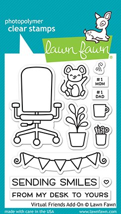 Lawn Fawn - Clear Stamps - Virtual Friends Add-On