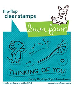 Lawn Fawn - Clear Stamps - Dandy Day Flip-Flop