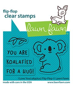 Lawn Fawn - Clear Stamps - I Love You (Calyptus) Flip-Flop