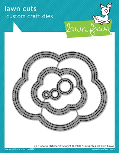 Lawn Fawn - Lawn Cuts - Outside In Stitched Thought Bubble Stackables