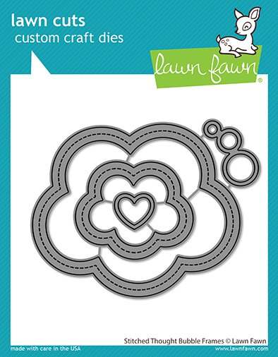 Lawn Fawn - Lawn Cuts - Stitched Thought Bubble Frames