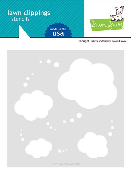 Lawn Fawn - Stencils - Thought Bubbles
