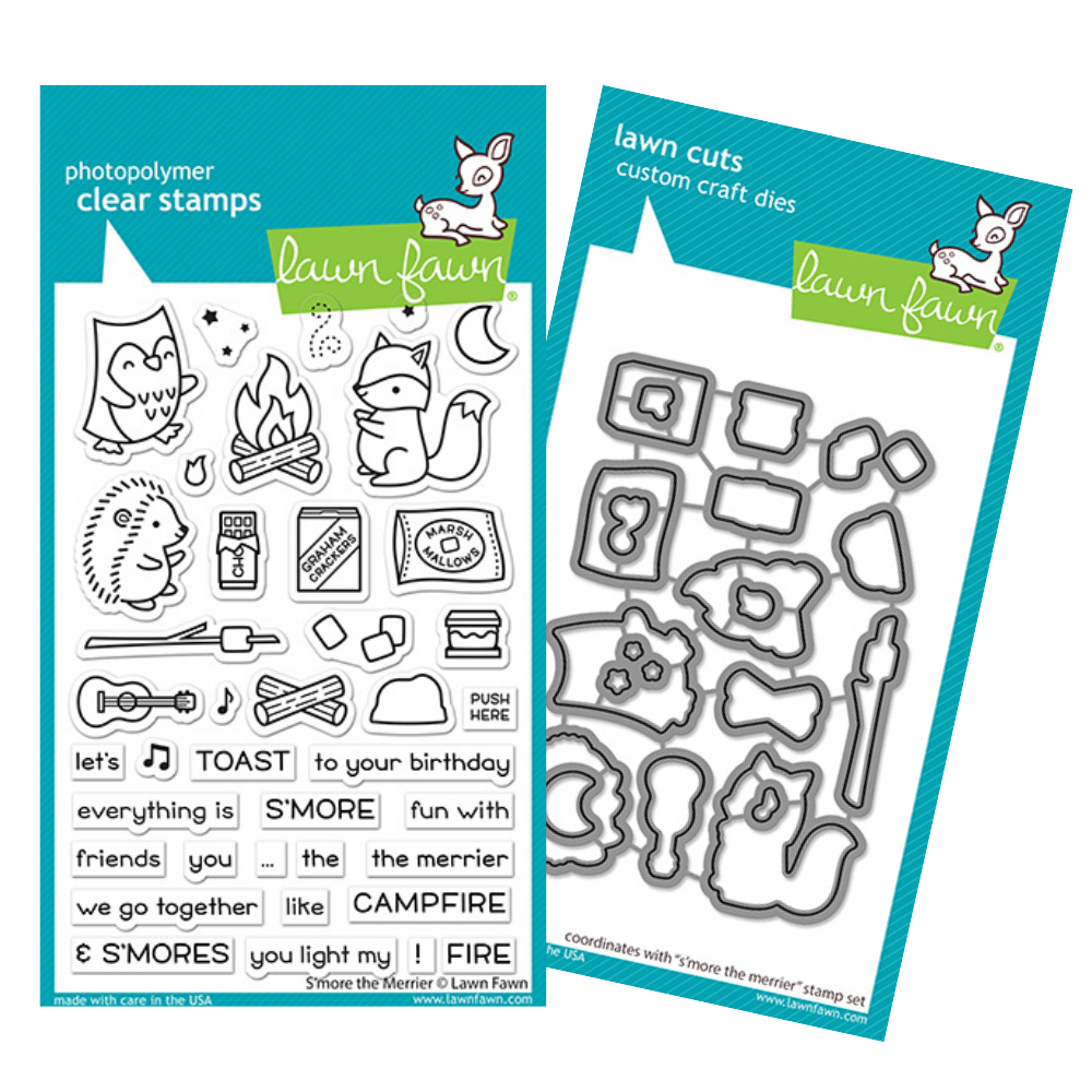 Lawn Fawn - S'more The Merrier - Stamp and Die BUNDLE