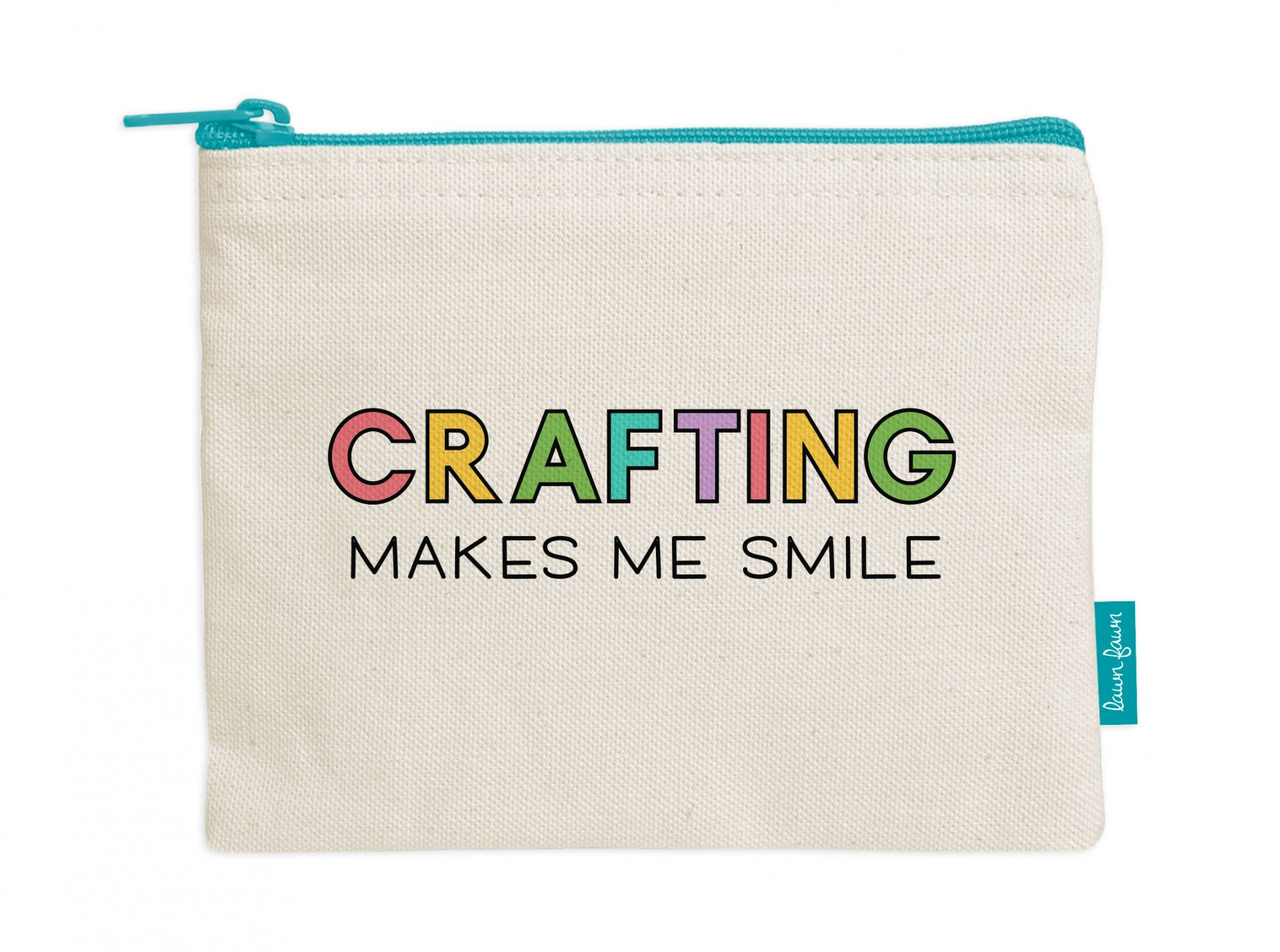 Lawn Fawn - Canvas Zipper Pouch - Crafting Makes Me Smile