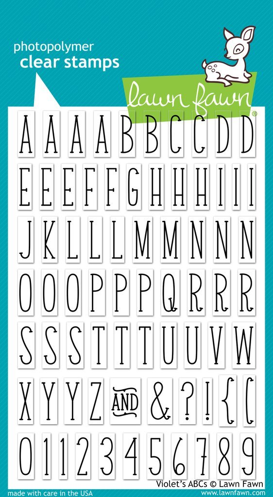 Lawn Fawn - Clear Stamp - Violet's ABCs