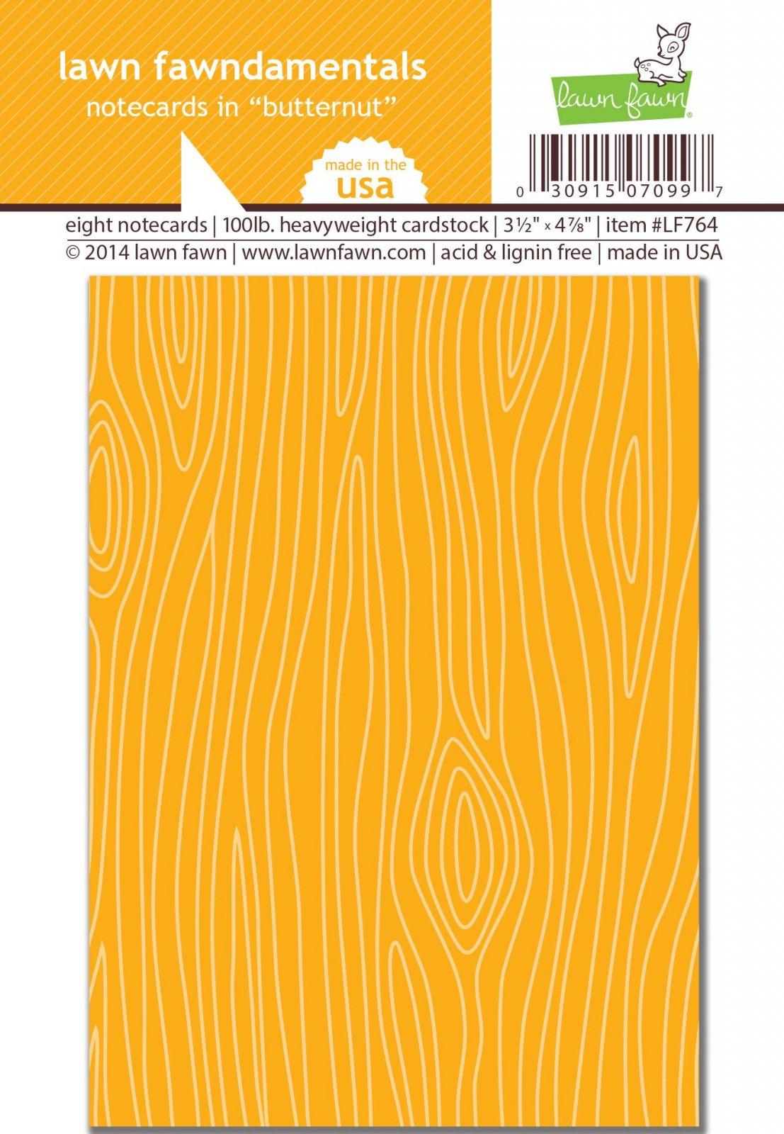 ^Lawn Fawn - Notecards - Butternut, 8/pkg