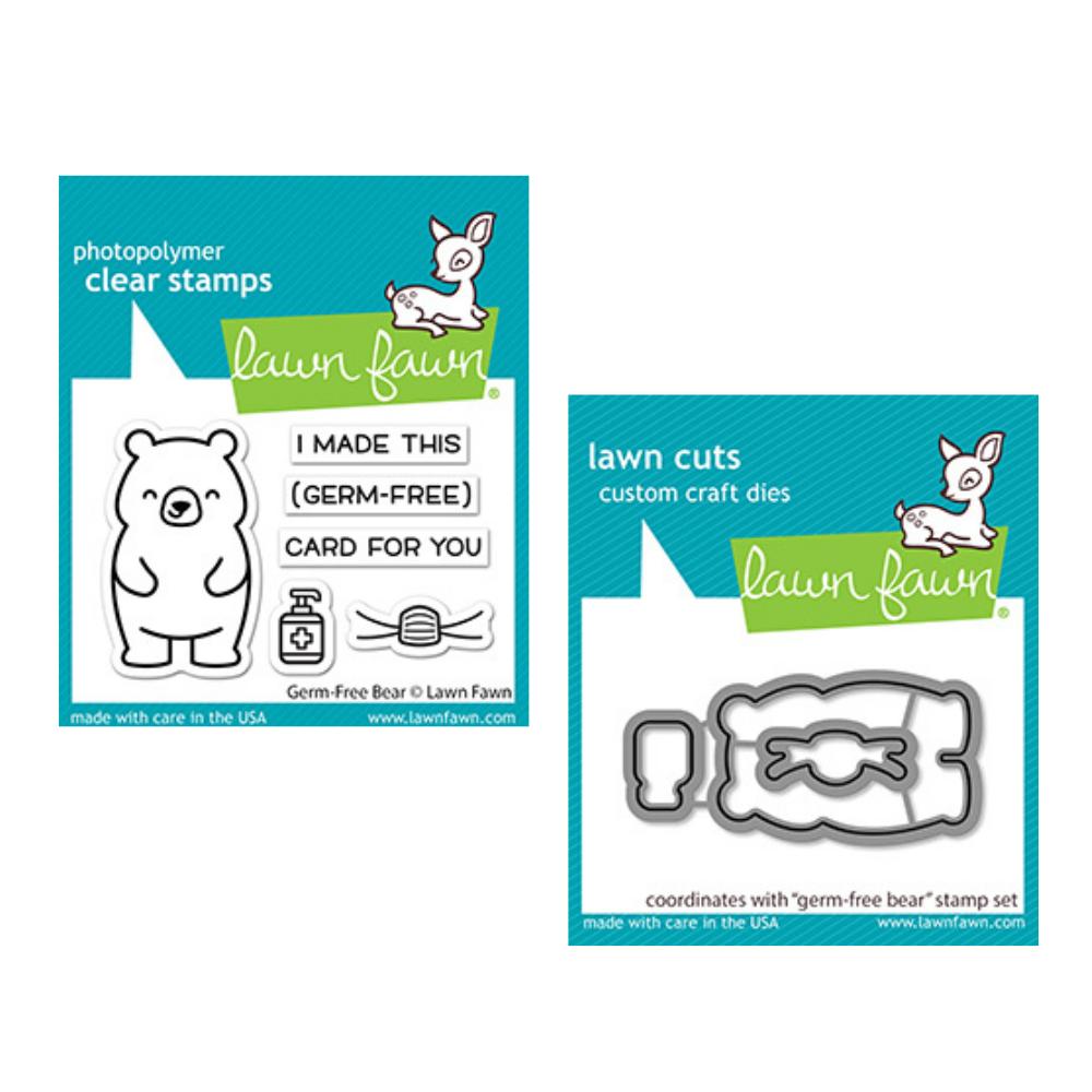 Lawn Fawn - Germ-Free Bear - Stamp and Die Bundle