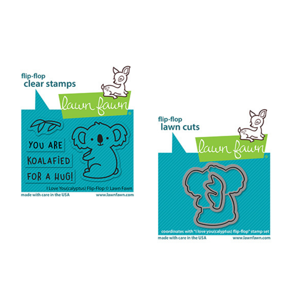 Lawn Fawn - I Love You (Calyptus) Flip-Flop - Stamp and Die BUNDLE
