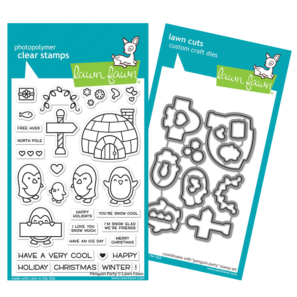 Lawn Fawn - Penguin Party - Stamp and Die BUNDLE