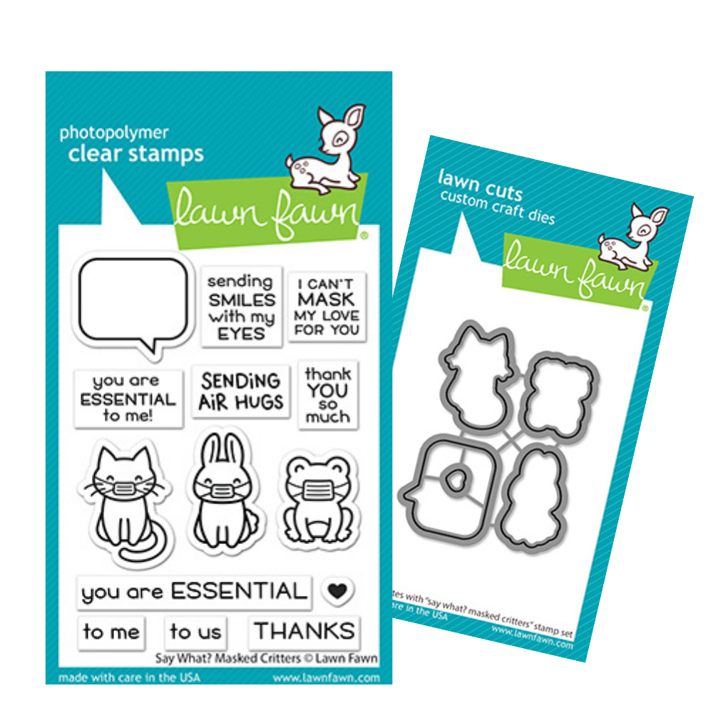 Lawn Fawn - Say What? Masked Critters - Stamp and Die Bundle