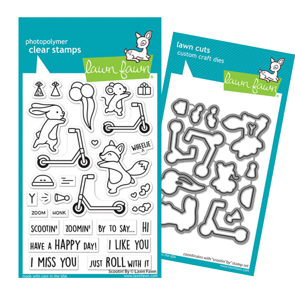 Lawn Fawn - Scootin' By - Stamp and Die Bundle